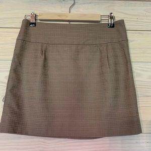 J. Crew grey textured mini skirt